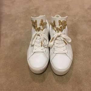 Michael Kors white leather sneaker